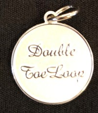 Silver Colored: Double Toe Loop